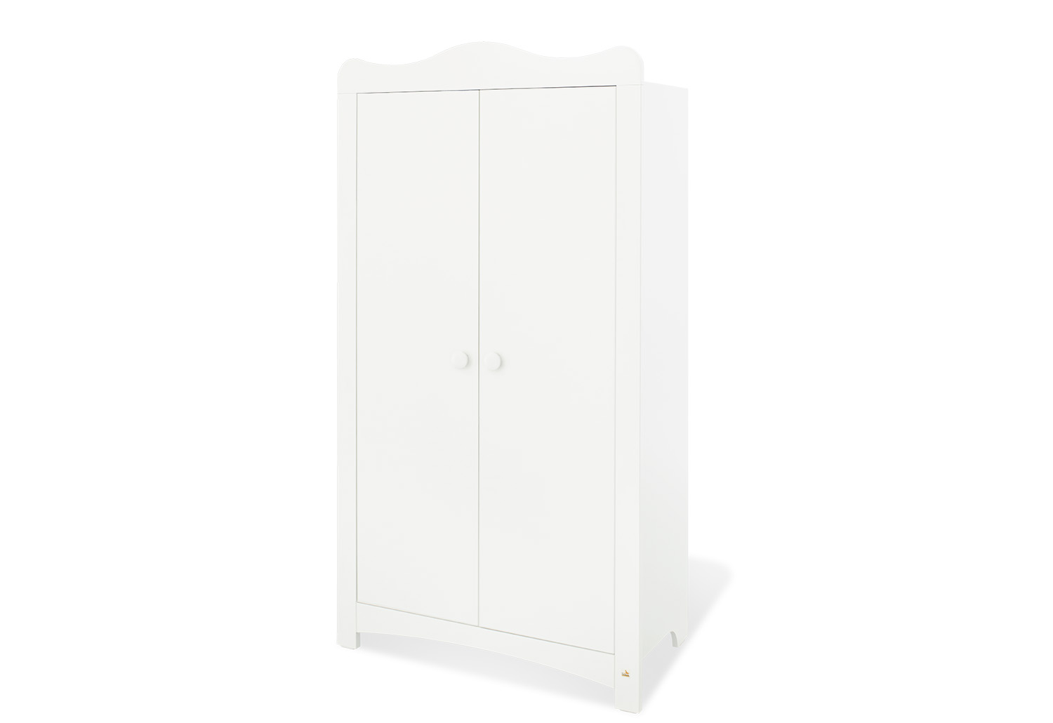 armoire enfant 2 portes blanche florentina pinolino p140023 e kid tout pour la chambre de b b. Black Bedroom Furniture Sets. Home Design Ideas