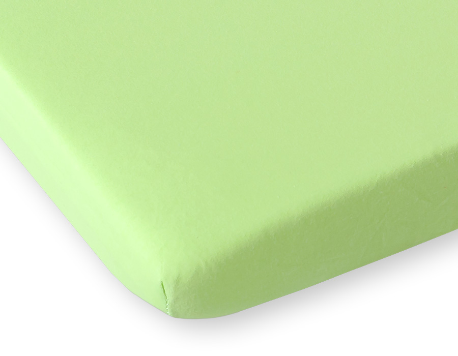 drap housse pour lit de b b 120 x 60 cm coton jersey de coloris vert. Black Bedroom Furniture Sets. Home Design Ideas